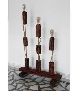 Wood, metal and rope floor lamp 207