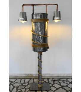 Metal and rope floor lamp 213