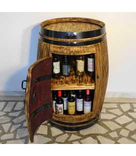 Τραπέζι-μπαράκι από ξύλινο βαρέλι κρασιού 017