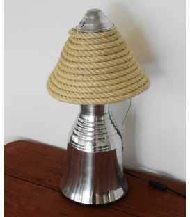Μetal milk jug, jar and rope decorative table light 219