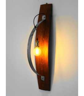 Φωτιστικό τοίχου απλίκα από ξύλο και μέταλλο 226