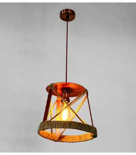 Metal and rope pendant light 231