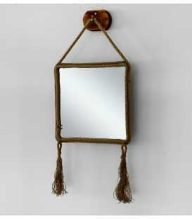 Wall mirror with frame of rope 251