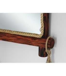 Holz und Seil Wandspiegel 202