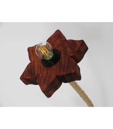 Φωτιστικό δαπέδου από ξύλο, μέταλλο και σχοινί 266