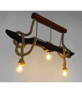 Wood and rope pendant light 267