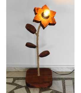 Φωτιστικό δαπέδου από ξύλο, μέταλλο και σχοινί 275