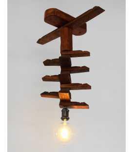 Κρεμαστό φωτιστικό οροφής από ξύλο 278