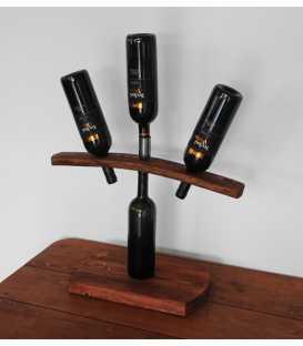 Weinflaschenhalter aus Holz für drei Flaschen 286