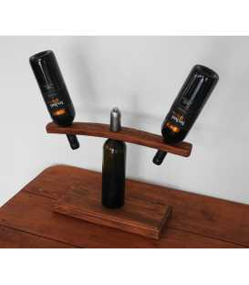 Wood wine bottle holder for two bottles 287