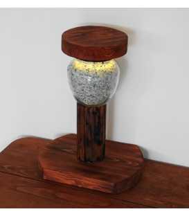 Decorative wood and jar table light 294