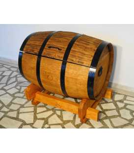 Wein barrel storage chest