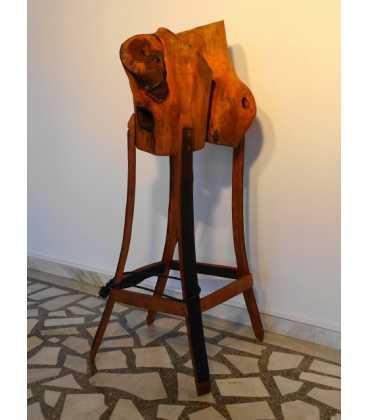 Wooden floor lamp