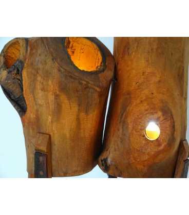 Ξύλινο φωτιστικό δαπέδου