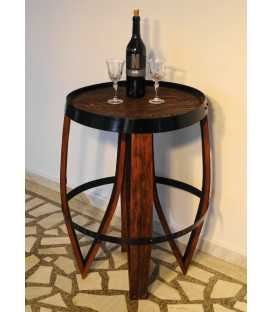 Βοηθητικό τραπεζάκι από ξύλινο βαρέλι κρασιού 028