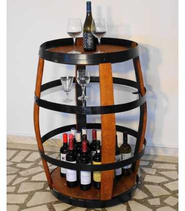 Τραπέζι-μπαράκι από ξύλινο βαρέλι κρασιού