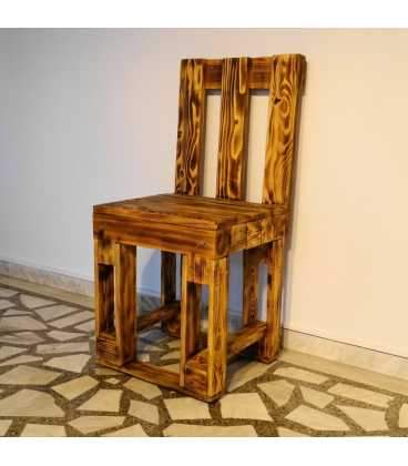 Pallet wood table set with two chairs and a bench