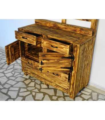 Schrank mit 4 Schubladen und 2 Türe aus Palletenholz