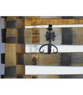 Wandgarderobe aus Holz 041