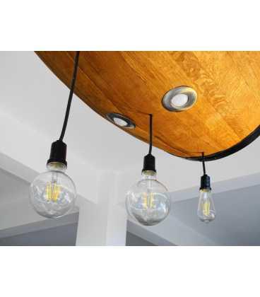 Κρεμαστό φωτιστικό οροφής ξύλινο/μεταλλικό