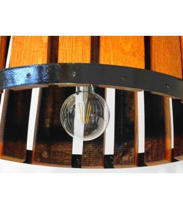 Κρεμαστό φωτιστικό οροφής ξύλινο/μεταλλικό 048