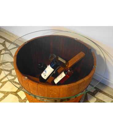 Weinfass Tischgarnitur mit 2 Sesseln 052