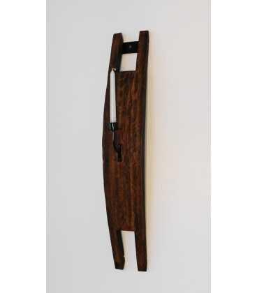 Κηροπήγιο ξύλινο/μεταλλικό από δούγα βαρελιού 053