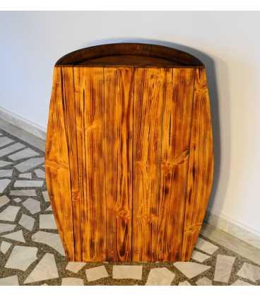 Τραπέζι-μπαράκι από ξύλινο βαρέλι κρασιού 056