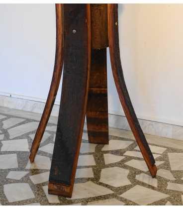 Καλόγερος χειροποίητος από κορμό δέντρου με μεταλλικούς γάντζους 060