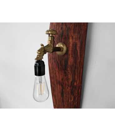 Φωτιστικό τοίχου ξύλινο/μεταλλικό 062
