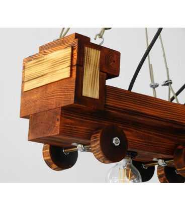 Κρεμαστό φωτιστικό οροφής από ξύλο 080