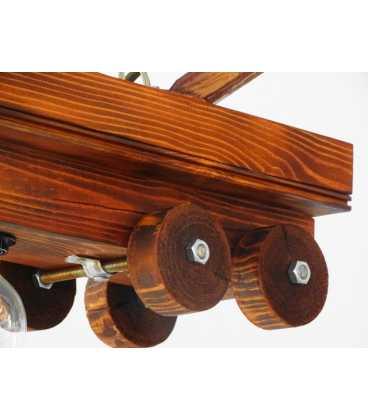 Hängende Holzdeckenleuchte 080