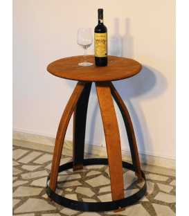 Wine barrel side table 009