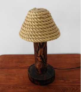 Holz, Einmachglas und Seil Tischleuchte 145