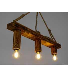 Holz und Seil hängende Deckenleuchte 161