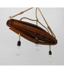 Holz und Seil hängende Deckenleuchte 170