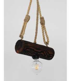 Holz und Seil hängende Deckenleuchte 174