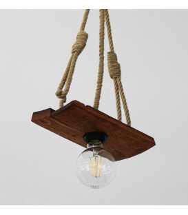 Holz und Seil hängende Deckenleuchte 179