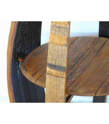 Τραπέζι-μπαράκι από ξύλινο βαρέλι κρασιού 045